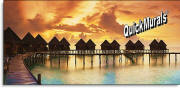 maldive resort sunset wall mural