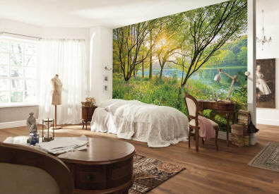 Spring Lake Wall Mural roomsetting