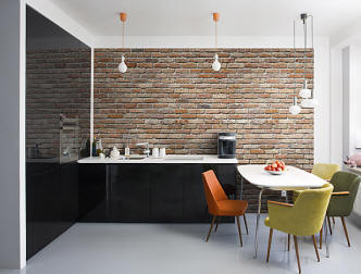 Exposed Brick Wall Mural roomsetting