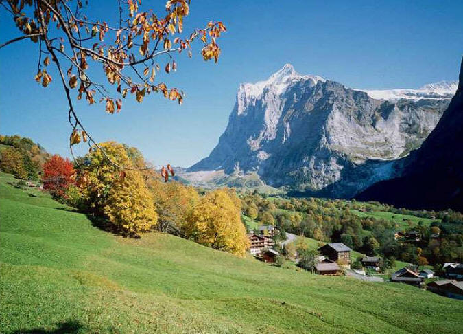 Autumn Hill Switzerland Wall Mural DS8039