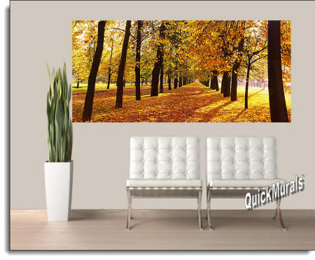 Autumn Park Wall Mural Roomsetting