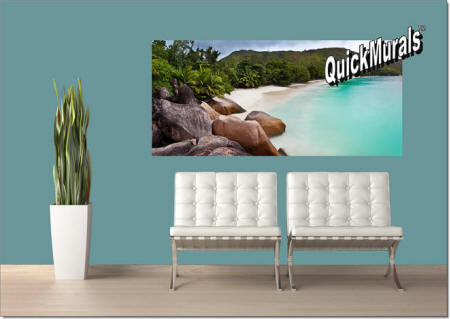 Barbados Island Beach Wall Mural Roomsetting