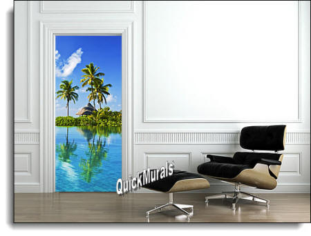 Blue Lagoon door/wall Mural