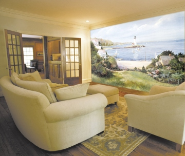 Lighthouse Cove Wall Mural roomsetting
