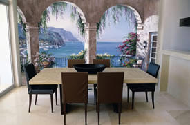 Mediterranean Arch Wall Mural C834 roomsetting