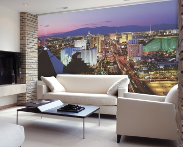 Vegas Lights Wall Mural Roomsetting