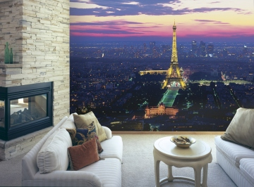 Paris Lights Wall Mural roomsetting