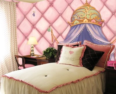 Princess Canopy Wall Mural C863 roomsetting
