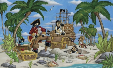 Pirates Wall Mural C864