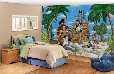 Pirates Wall Mural C864 roomsetting