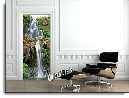 Chestnut Trail Waterfall door/wall Mural roomsetting