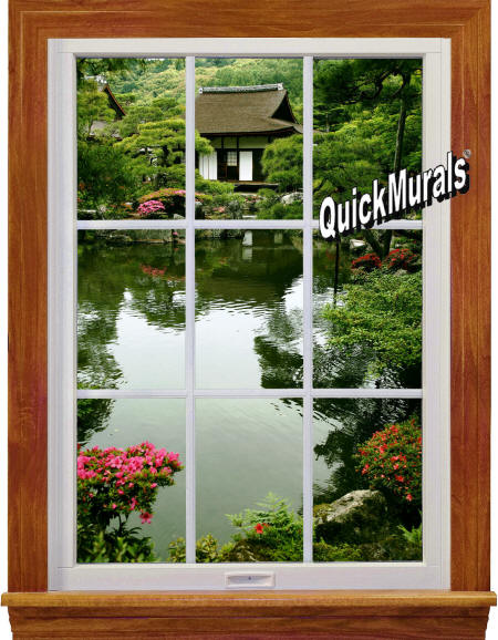Lakehouse Window Wall Mural