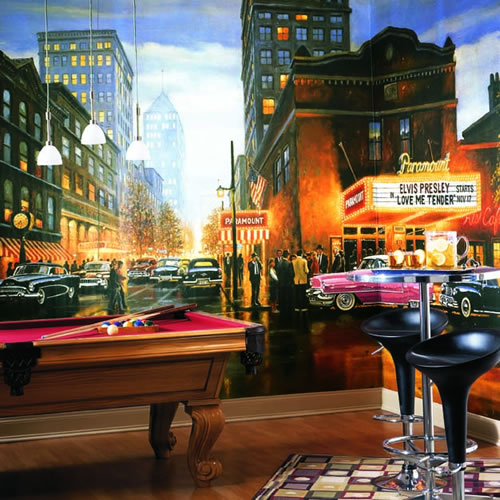 Evening at the Paramount Wall Mural roomsetting