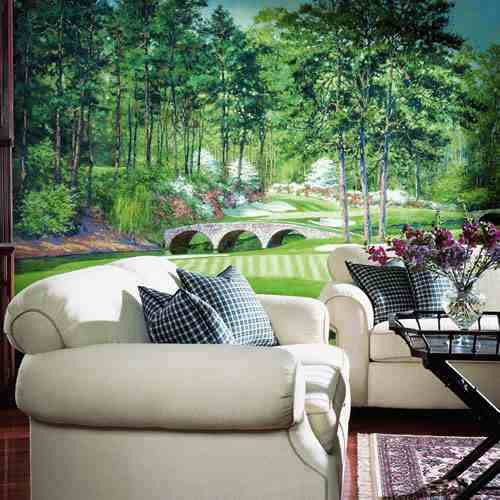 Golfers' Paradise Wall Mural roomsetting