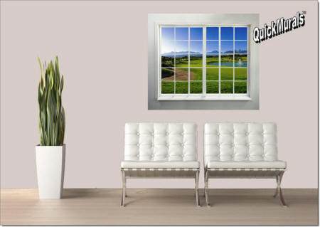 GOLFCOURSE WINDOW ROOMSETTING