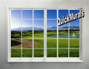 gold course window mural