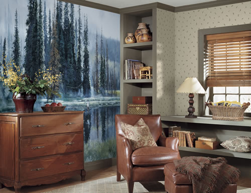 Gone Fishing Wall Mural roomsetting