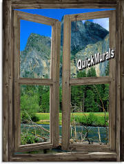 mountain cabin window #3