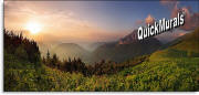 mountain sunrise wall mural