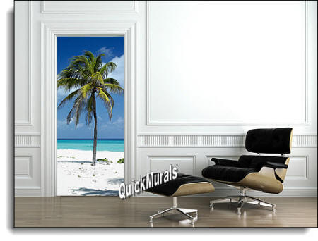 palm tree door/wall Mural room