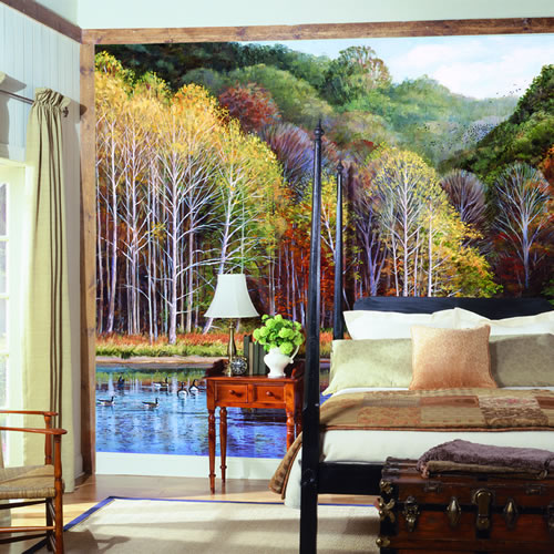 Peaceful Setting Wall Mural roomsetting