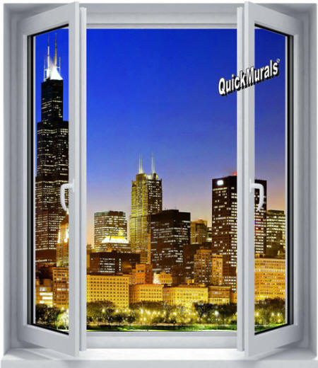Skyline Window Wall Mural