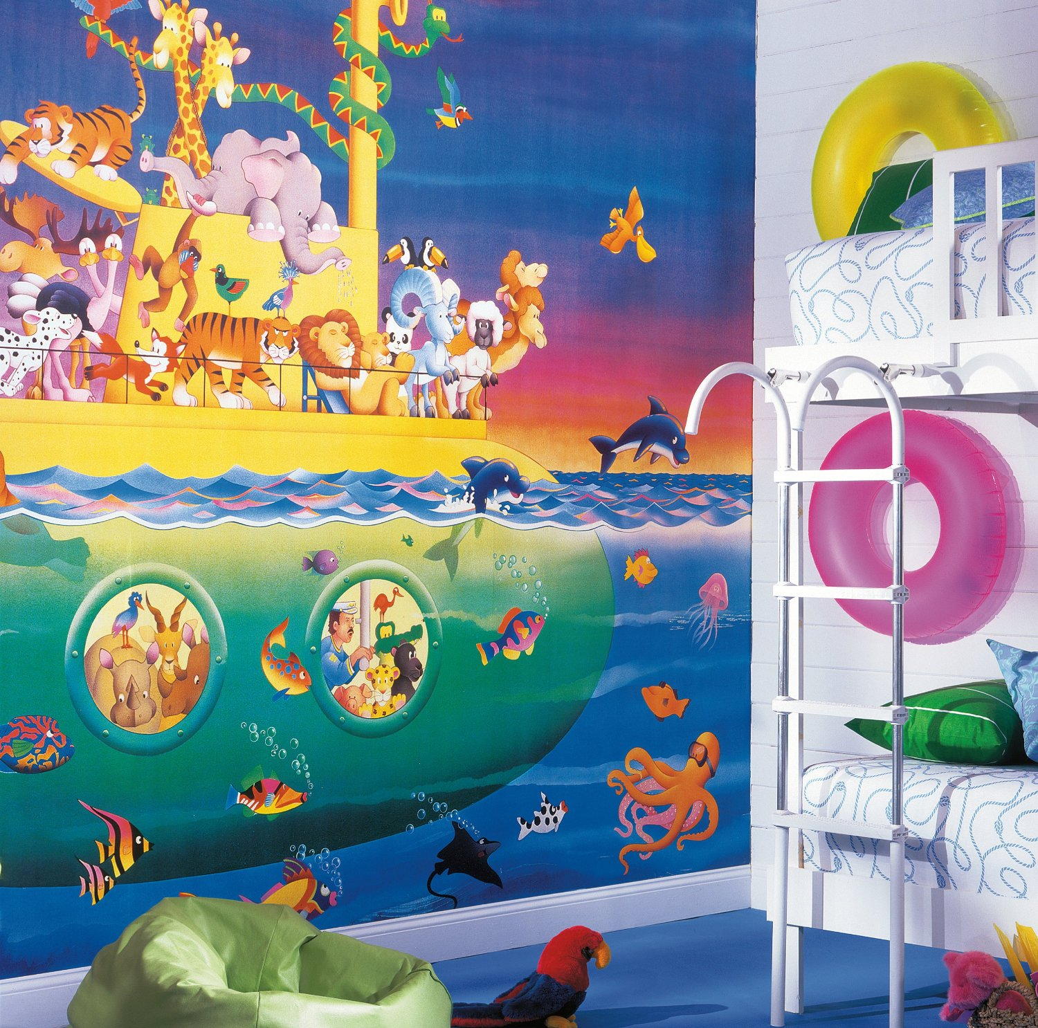 Noah's Sub Wall Mural roomsetting