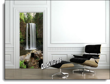 Serenity Waterfall door/wall Mural Roomsetting