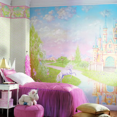 Storybook Wall Mural roomsetting