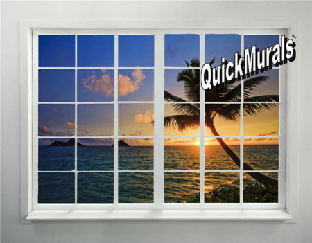 Tahiti Sunset Window