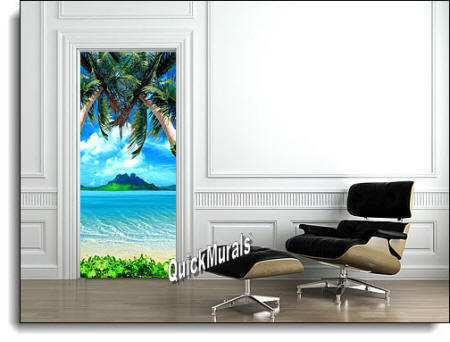 Tropical Door Mural Roomsetting