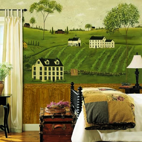 Countryside Wall Mural roomsetting