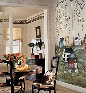 Heartland Wall Mural roomsetting