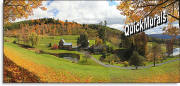 vermont farmhouse wall mural