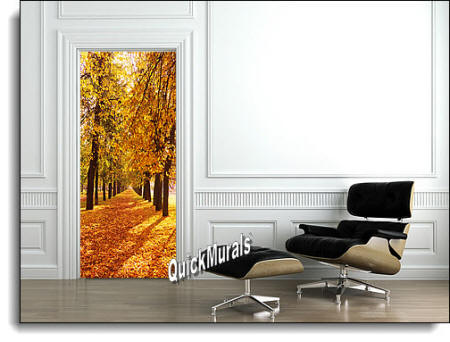 Wooded PathDoor Mural Roomsetting
