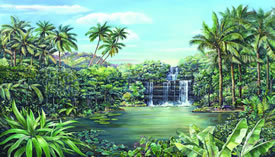 Tropical Lagoon Mural