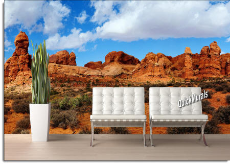 Canyonlands wall mural roomsetting