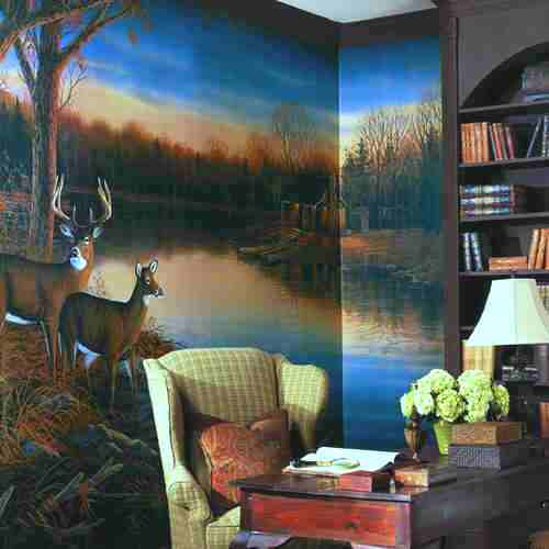Tranquil Evening Wall Mural roomsetting