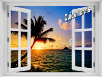 Hawaiian Sunset Instant Window Mural