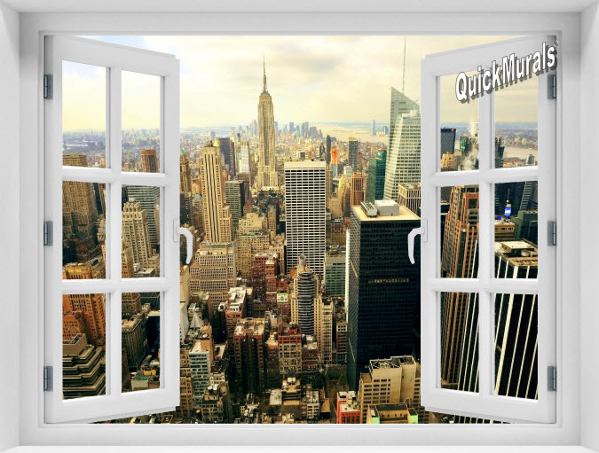 The Big Apple Instant Window Mural