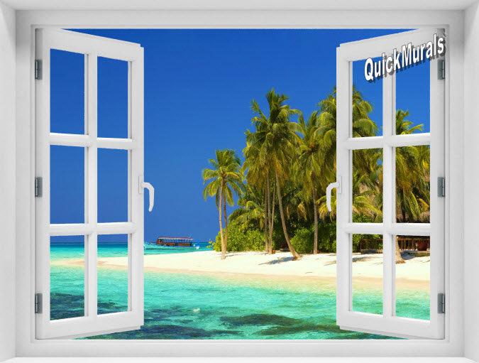 Cook Island Instant Window Mural
