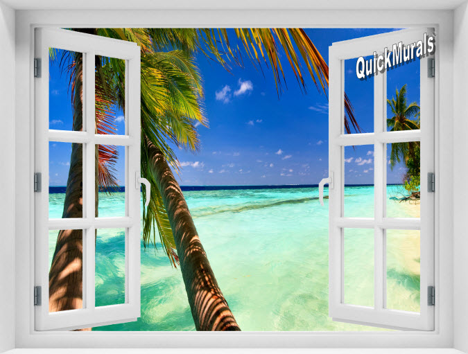 Tahiti Instant Window Mural