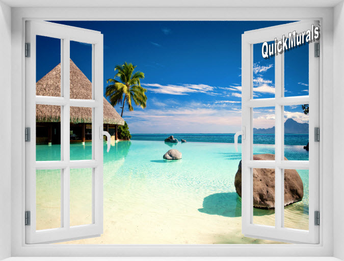 Turtle Island Fiji Instant Window Mural