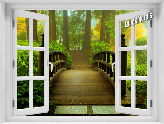 Enchanted Forest Instant Window Mural