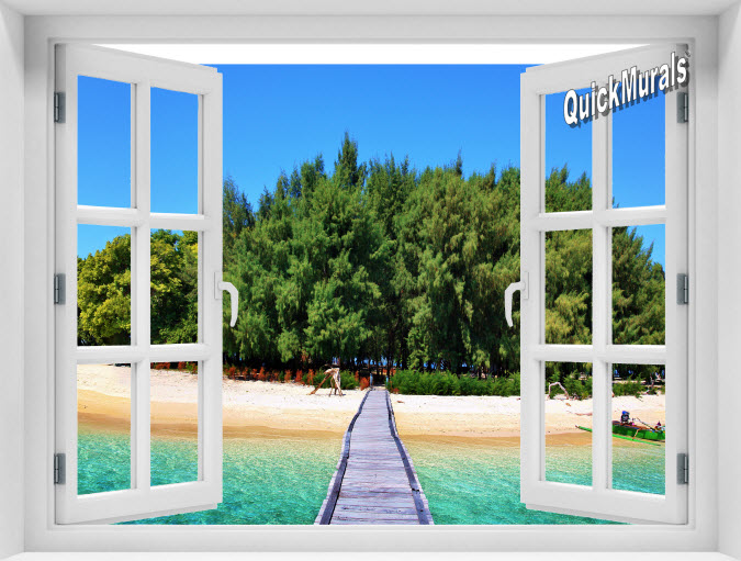 Maldives Island Instant Window Mural