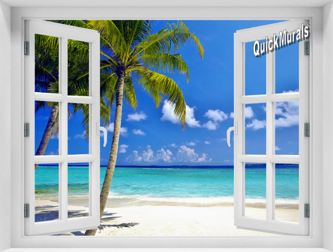 Tropical Ocean Instant Window Mural