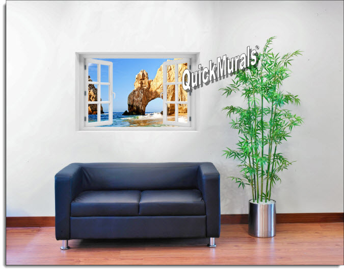 Cabo San Lucas Instant Window Mural roomsetting