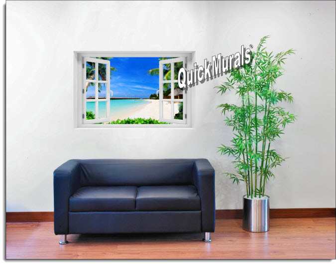 Maui Instant Window Mural roomsetting