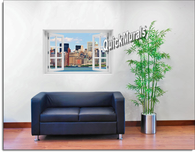 New York City #1 Color Instant Window Mural roomsetting