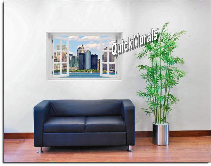 New York City #2 Color Instant Window Mural roomsetting